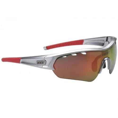 BBB fietsbril select matt chrome rood
