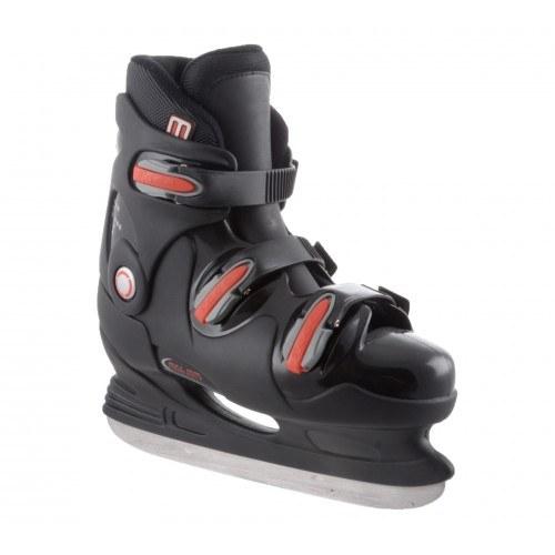 Nijdam IjsHockey-schaatsen- 3 gespen zwart rood
