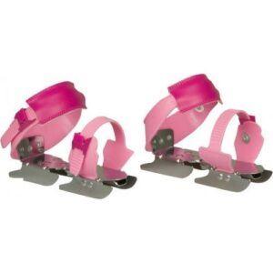 Nijdam glij ijzers roze meisjes verstelbaar