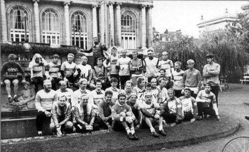 Spa - Sliedrecht in 1988 met de allereerste groepsfoto.