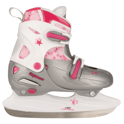 nijdam junior kinderschaatsen verstelbaar Roze zilver