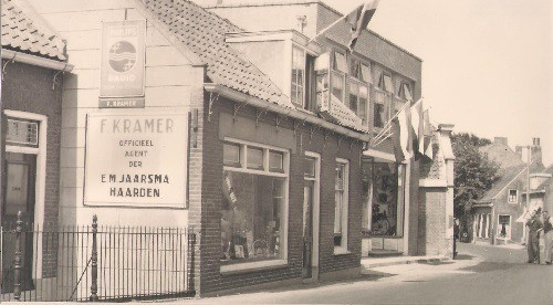 opening nieuwe winkel Frans Kramer 1953