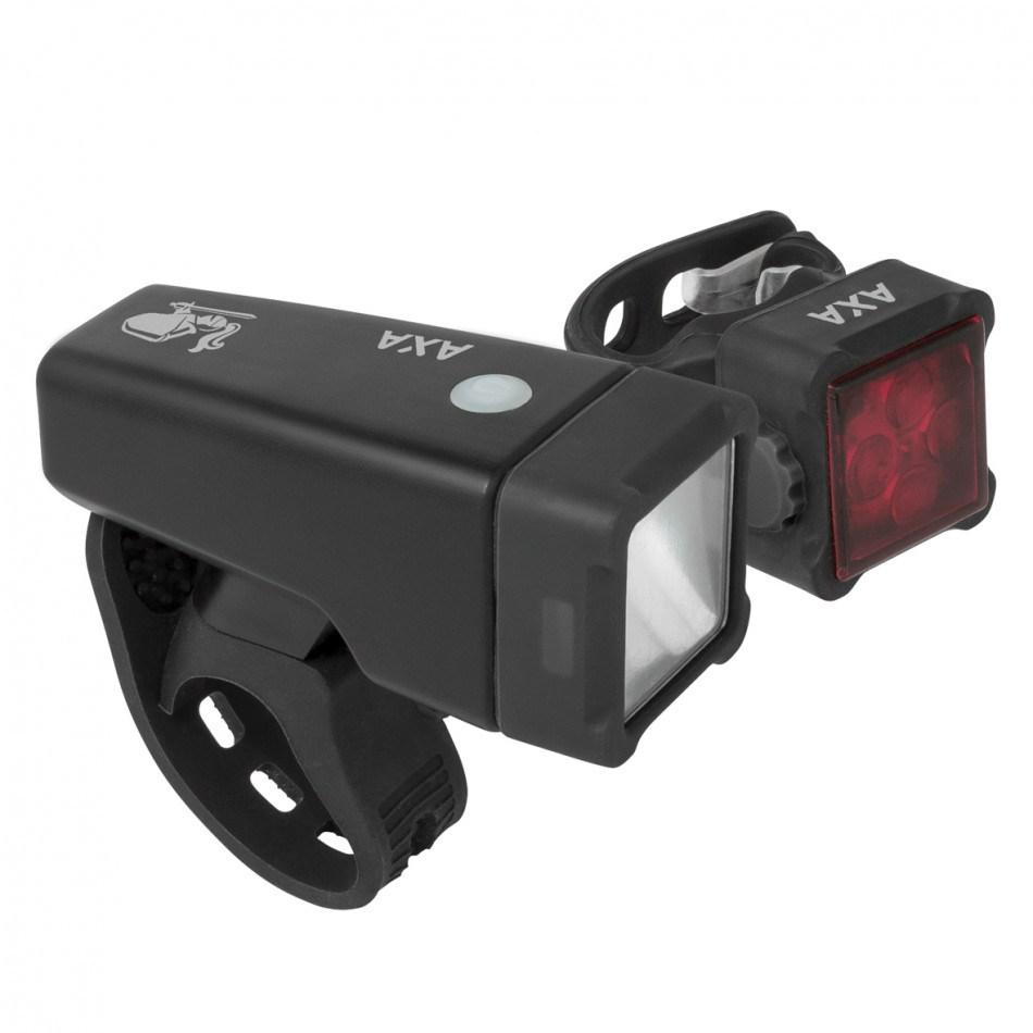 Axa Verlichtingset Niteline T4 USB