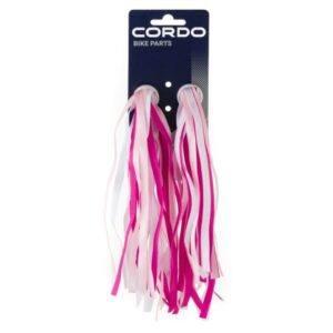 Cordo Streamers Wit Roze Franje