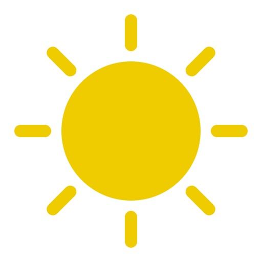 Het weer zonnig